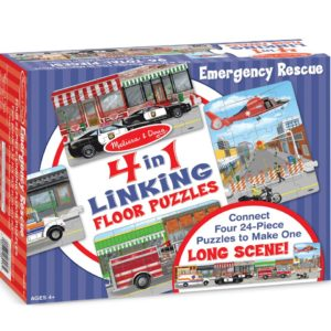Emergency Rescue 4-in-1 Linking Floor Puzzle (96 pc)