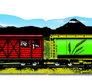 Trains 4-in-1 Linking Floor Puzzle (96 pc)